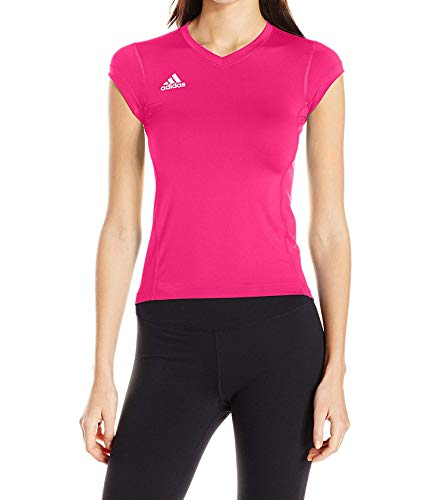 adidas Mädchen Volleyball Hi-Lo Cap Sleeve Jersey Medium Shock Pink