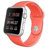 APPLE(アップル) Apple Watch Sport 38mmシルバーアルミニウムケースとピンクウーブンナイロン