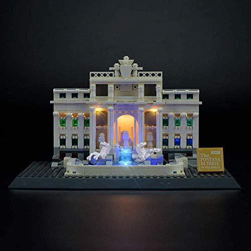 Nlne Conjunto De Luces para (Architecture Fontana De Trevi) Modelo De Construcción De Bloques - Kit De Luz LED Compatible con Lego 21020 (NO Incluido En El Modelo)