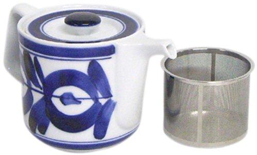 西海陶器 波佐見焼 ティー ポット マジョリカ スーパー ステンレス 茶こし付 550 ml ホワイト 60157