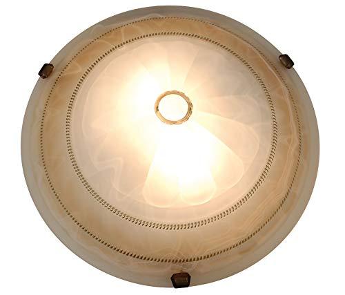 Naeve Leuchten Glasdeckenleuchte/durchmesser: 40 cm/Glas/braun 124264