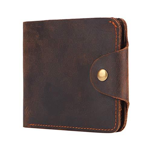 PRETYZOOM Läder Herr Plånbok Blixtlås Knapp Design Handväska Praktiska kort Kontantplånbok