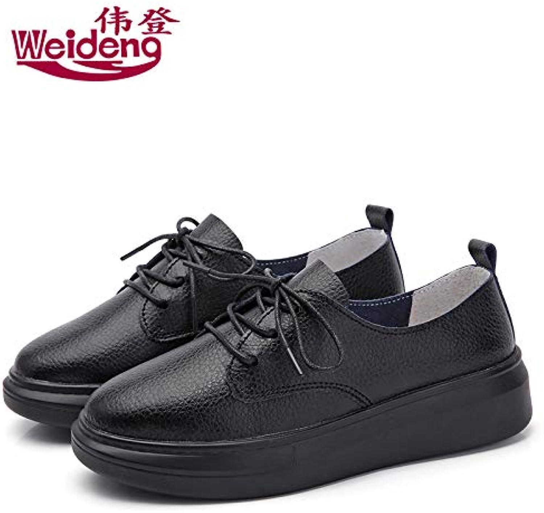 HOESCZS Frühling Neue Weiße Schuhe Mode Dicke Sohlen Plattform Plattform Plattform Schuhe Damenschuhe Mode Studenten Wilde England Casual Schuhe Einzelne Schuhe  48bd91