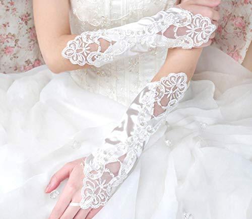 MoreChioce damskie rękawiczki na nadgarstki, vintage, dla panny młodej, styl lat 20, koronkowe rękawiczki z perłami, stras, rękawiczki ślubne, bez palców, seksowna sukienka wieczorowa, koronkowe mankiety, białe
