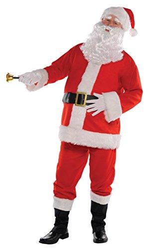 amscan Costume Babbo Natale Tg. S/M. Contiene: Cappello, Giacca, Pantaloni, Cintura