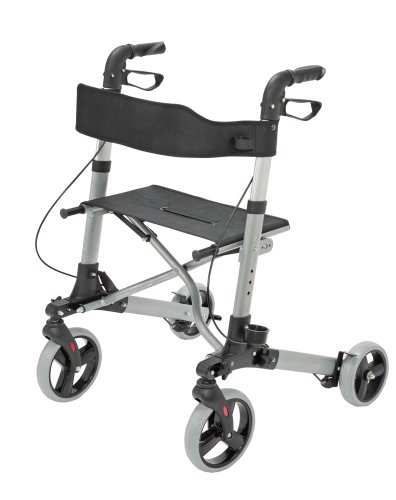 Healthsmart 4 Wheel Healthsmart Gateway Aluminum Rollator for Men and Women, Titanium