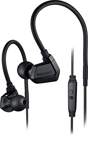 ROCCAT Score - Full Spectrum Dual Driver In-Ear Gaming Headset, extrem leicht, komfortable Passform, Real-Voice Mikrofon, integrierte Fernbedienung, designed in Deutschland