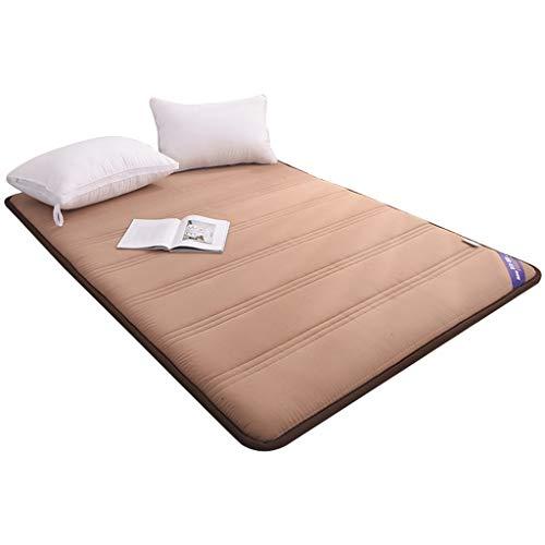 Matras Topper Pad tegen spanning, opvouwbaar, voor winter en zomer, beschermmat, voor studenten, slaapzaal, tatami, dekbed 0.9×2m Khaki (stad)