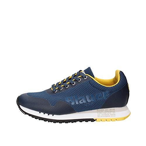 Blauer Scarpe Sneakers Denver01 Blu da Uomo in Pelle estive 2020 Casual Sportive (45)