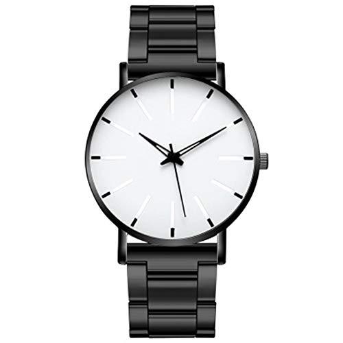 ZTT Minimalist Herrenmode Ultra Thin Uhren Einfache Mann-Edelstahlgewebe Gürtel Quarzuhr,B