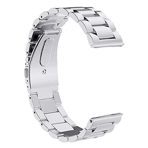 Banda Smart Watch pulseras. STRIKT STRALTE STRUP 18mm brazalete de acero inoxidable compatible con Apple Huawei Silver
