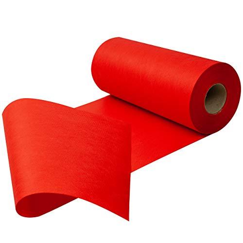 Sensalux Tischläufer, Tischband, stoffähnliches Vlies, Oeko-TEX Standard 100 - Klasse I Zertifiziert, 30cm x 25m, Rot