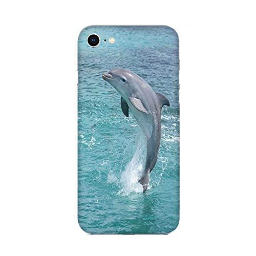 Funda iPhone 6 Carcasa Compatible con Apple iPhone 6 Animales Delfines al mar/TPU Suave Gel de Silicona/Teléfono Hard Snap en Antideslizante Antideslizante Anti-rasguño Resistente a los Golpes T