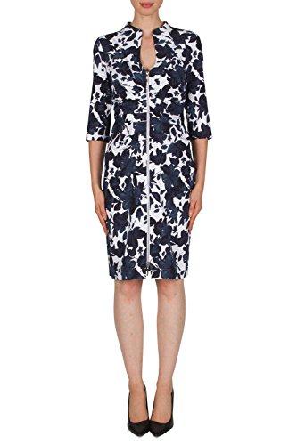 Joseph Ribkoff Navy/White Dress Style 181771 - Multi -