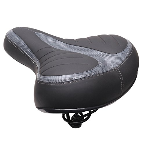 MXBIN Wide Big Bum Bike Gel Cruiser Extra Comfort Sporty Soft Pad...