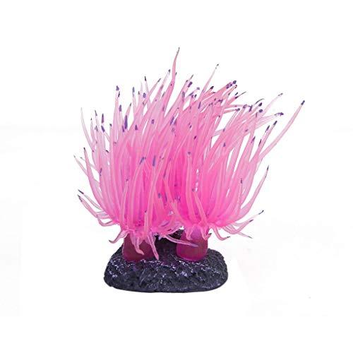Bocotoer Künstliche gefälschte Aquarium Koralle für Dekoration Pflanzen Wasserpflanzen Aquariumpflanzen Rosa