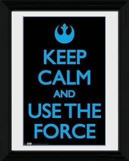 GB eye Star Wars - Keep Calm Use The Force Framed Mini Poster - 45.5x35.5cm