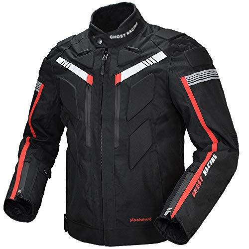 Ddl Motorrad Motorrad Jacke Herren Textil Jersey Rennanzüge Wasserdicht abnehmbare Protektoren abnehmbare warme Baumwolle Vier Jahreszeiten universal,XL