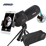 Aomekie Spektiv für Sportschützen Jagd 25-75X70 Zoom 45 Grad abgewinkelt Okular Fernglas Monokular Teleskop mit Stativ und Tasche Wasserdicht für