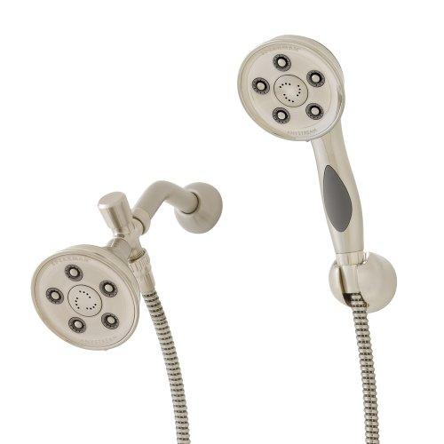 Speakman VS-113014-BN Caspian Anystream 2.5 GPM Handheld Shower and Shower Head Combo, Brushed Nickel
