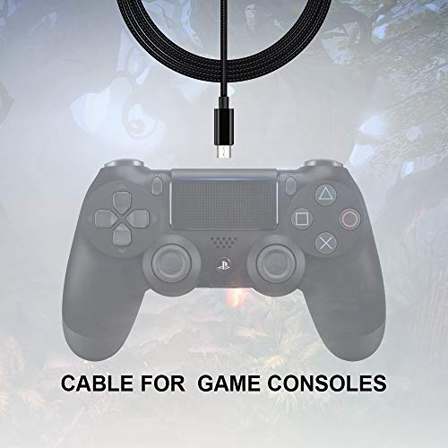 PS4 Controller Ladekabel,3M 2Pack Xbox Kabel für Playstation 4/Sony PS4/PS4 Slim/PS4 Pro/Xbox One/One S/One Elite/Microsoft One X Controllers,Extra lang,Micro usb Datenkabel und Schnellladekabel