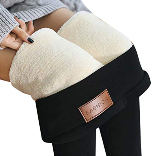ASKSA Pantalones El Invierno Legging Gruesa Elástica Térmicos Forro Polar para Mujer...