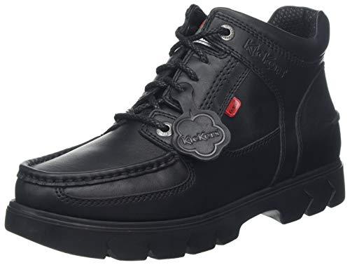 Kickers Lennon Mid Black Leather, Zapatos Hombre, Negro, 43