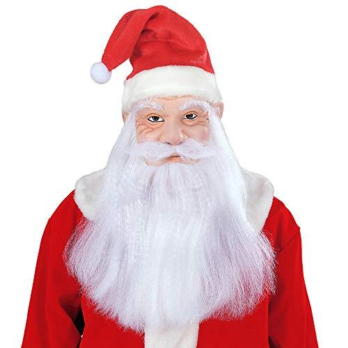 Widmann 1532S Weihnachtsmann Maske mit Mütze, Perücke und Bart, Rot/Weiß, Einheitsgröße