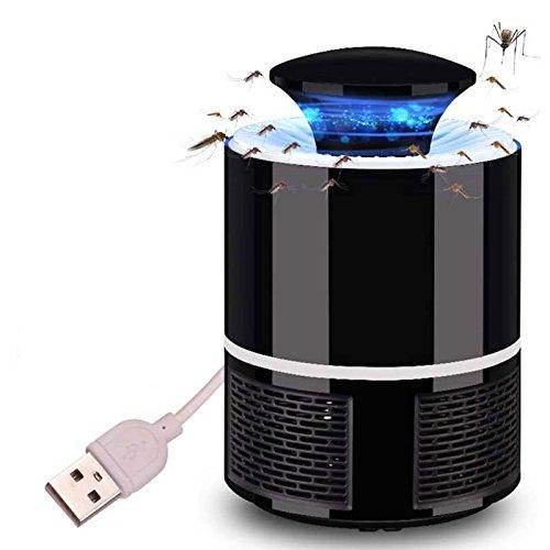 Oobest Mosquito - Lampada da parete senza prodotti chimici, USB, alimentata UV, LED, luce per fotocatalyst Fly Bug, con ventilatore di aspirazione per la casa