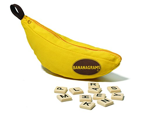 Game Factory 646177 Bananagrams Classic, das ultimative Wort-Legespiel für die ganze Familie, deutschsprachige Edition