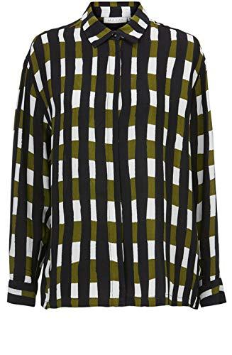 Masai Clothing Ibilla Camisa con estampado de cuadros Verde Lagarto M