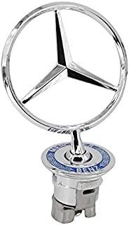 Guzetop Star Badge Hood Logo Chrome Emblem for Mercedes Benz W123 W126 W201 W124 (Wheat Ears)