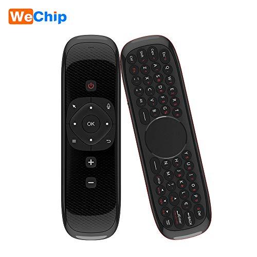 Docooler Wechip W1 Tastiera Senza Fili Di 2.4G Air Mouse Apprendimento Remoto A Distanza A Infrarossi Sensore Di Movimento A 6 Assi Con Ricevitore USB Per Smart TV BOX PC