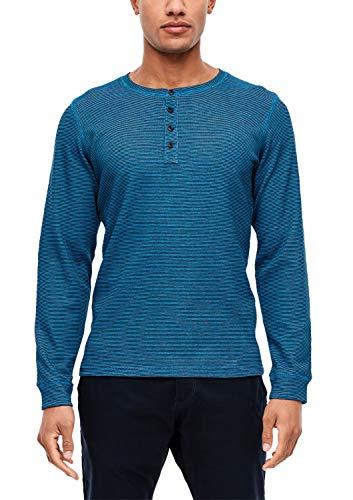s.Oliver Herren 13.912.31.6802 Langarmshirt, Blau (Dolphin Stripes 62g0), X-Large (Herstellergröße: XL)