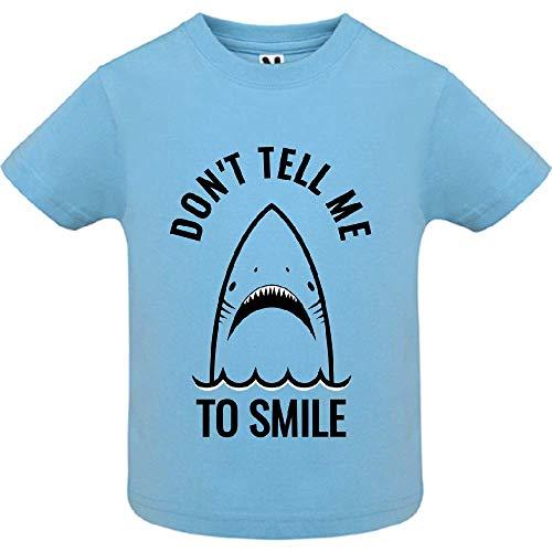 T-Shirt - Don t Tell me to Smile - Bébé Garçon - Bleu - 6mois