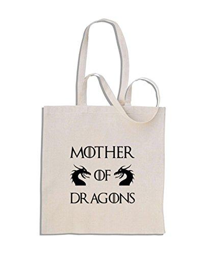 Mother of Dragons - Game of Thrones - Daenerys Targaryen - shopping bag di cotone