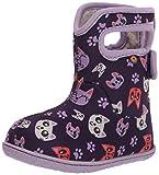 BOGS unisex child Baby Bogs Waterproof Snowboot Rain Boot, Kitties-purple, 6 Infant US