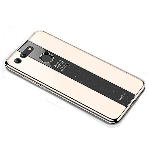 BELLA BEAR Glitter Case voor Huawei Honor View 20 plexiglas + vergulde zachte rubberen aansteker en meer anti-val telefoonhoesje cover voor Huawei Honor View 20, Huawei Honor View 20, Goud