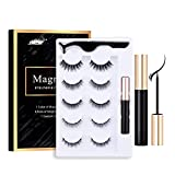 Magnetic Eyelashes with Eyeliner, COOSA Magnetic Eyeliner and Magnetic Eyelash Kit, Reusable 5 Pairs Magnetic Eyelashes