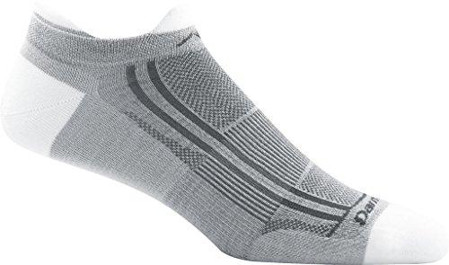 Darn Tough Racer No Show Tab Ultralight Sock - Men's Light Gray Medium