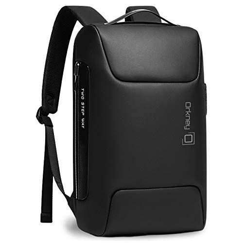 Orkney Laptop-Rucksack - Diebstahlsicher - Wasserdichter Reiserucksack - Elegantes Designgeschäft, Arbeit - TSA-Schloss, USB-Aufladung.