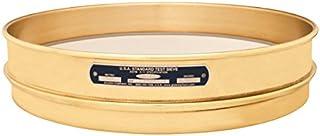 Gilson 8in Round Brass//Stainless Steel Test Sieve #6//3.35mm Full-Height Frame