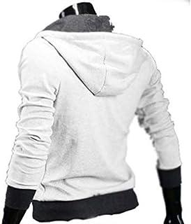 White Color Oblique Zipper Sweater Coat