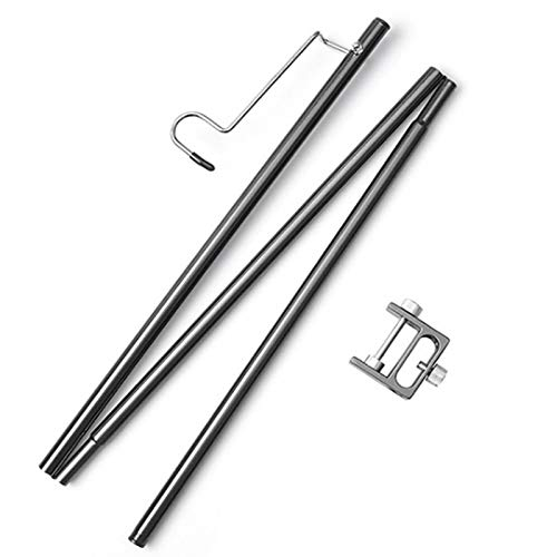 QWD Soporte de lámpara de aleación de Aluminio, Soporte de Poste Plegable...