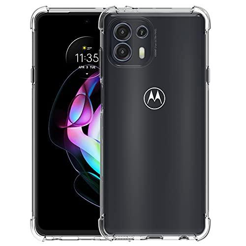 Foluu Schutzhülle für Motorola Edge 20 Lite, Moto Edge 20 Lite Hülle Klar, Kratzfeste verstärkte Ecken TPU Gummi Weiche Haut Silikon Schutzhülle für Motorola Edge 20 Lite 2021 (Kristallklar)