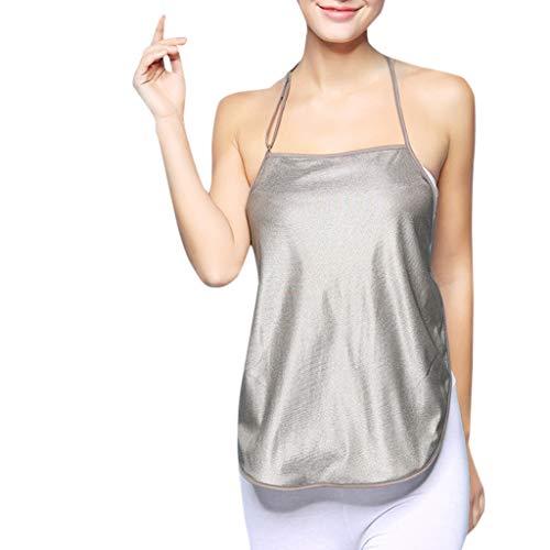 Cuteelf Ärmelloses Umstandskleid für Frauen, Strahlenschutzkleidung für Schwangere einfarbig, silberfarben, Strahlenschutzanzug, einfarbig, silberfarben, Strahlenschutzanzug, Nähen