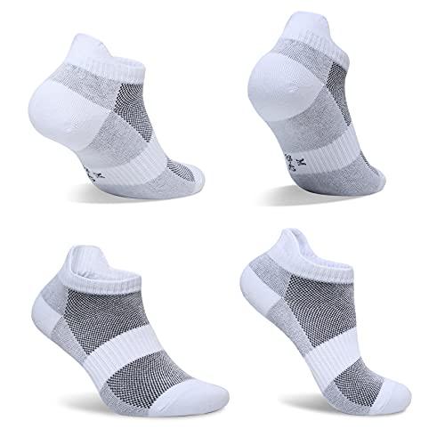 FARCHAT 10 Paar Sneaker Socken Herren 43-46 Weiß Damen Sportsocken Baumwolle Atmungsaktiv Kurze Unisex