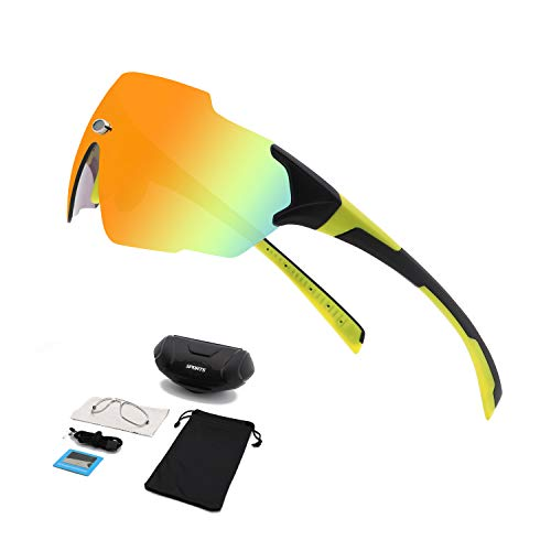 BangLong Gafas de sol Ciclismo, Gafas Deportivas, Gafas Polarizadas UV400 para Hombres y Mujeres, Gafas Ligeras para Motocicletas de Bicicleta , Adecuadas para Bicicletas, Correr, Pescar, Golf