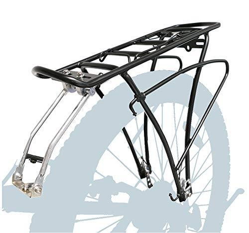 P4B | Fahrrad Gepäckträger hinten - verstellbar für 24/26 / 28/29 Zoll | Rahmenbefestigung mit Befestigungsmaterial | Inkl. 2X extra Schellen für zusätzliche Montagemöglichkeiten