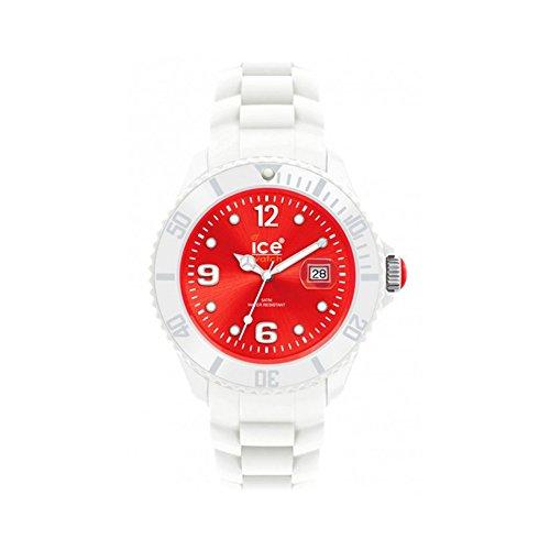 Ice-Watch Armbanduhr Ice-White Unisex weiß/rot SI.WD.U.S.11